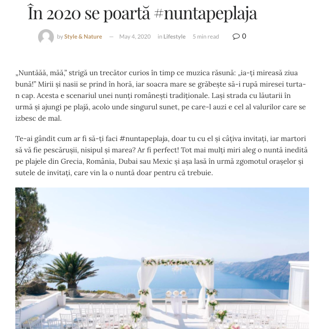 Se poarta Nunta Pe Plaja 2020 Styleandnature.ro
